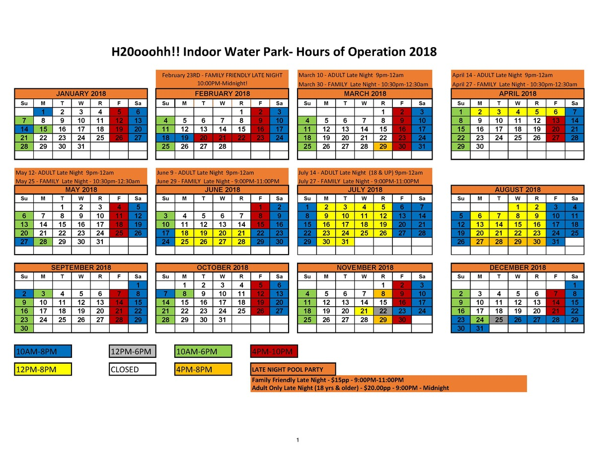 2018 Waterpark Schedule as of 05 29 18_Page_1