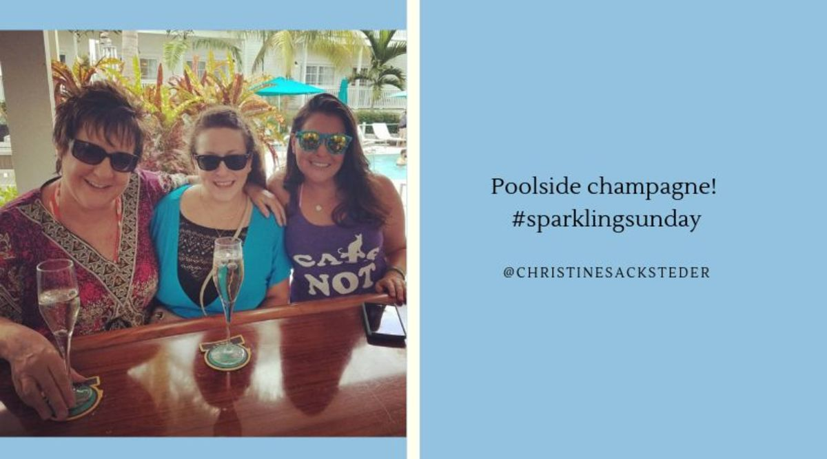 Poolside Champagne!