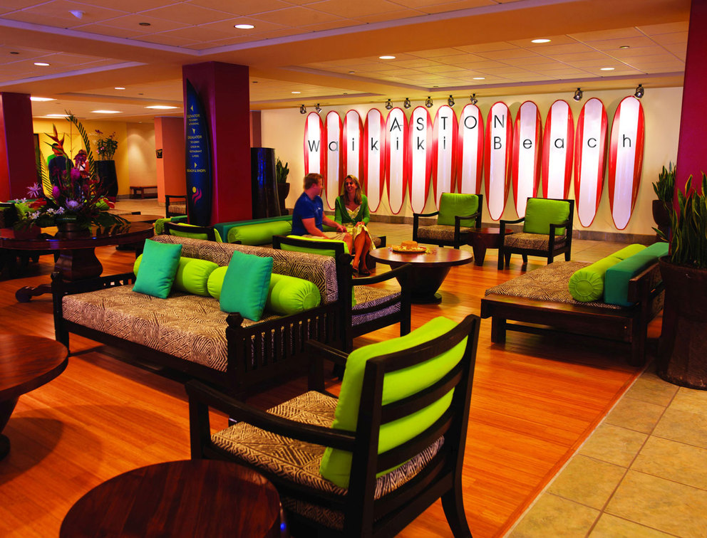 Aston Waikiki Beach Hotel Lobby 2