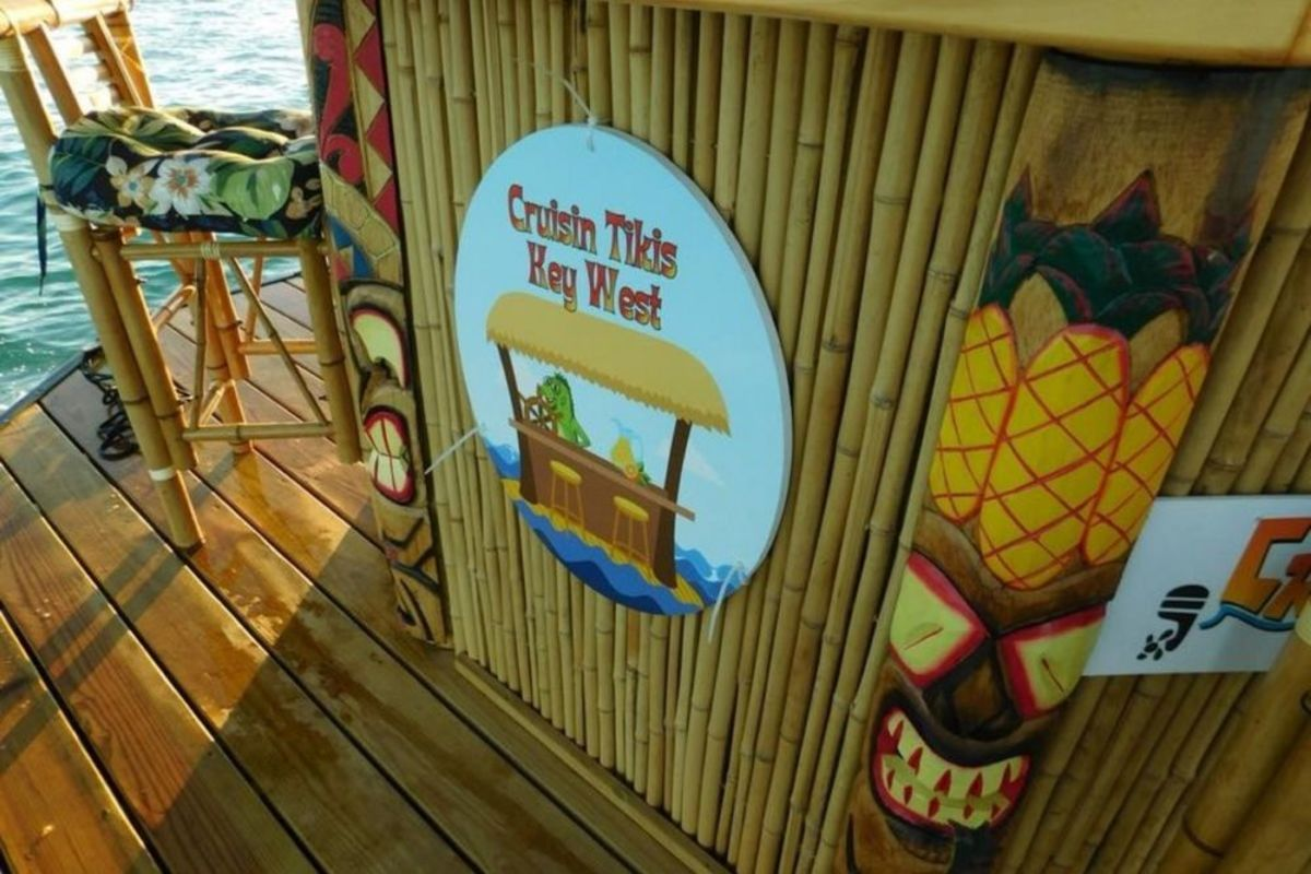 New In Town:  A Floating Tiki Boat