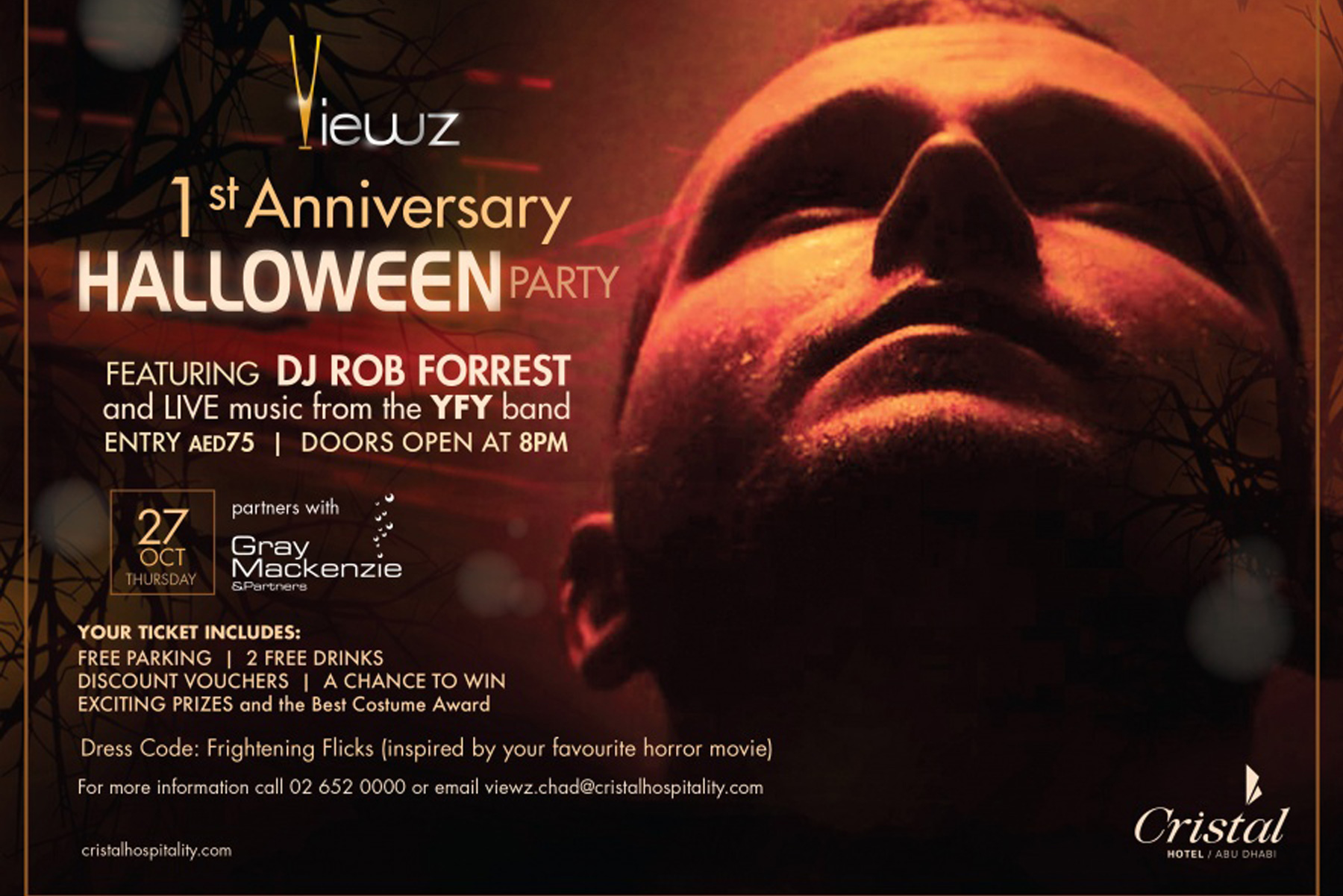 VIEWZ CELEBRATES ITS FIRST ANNIVERSARY WITH A HALLOWEEN PARTY