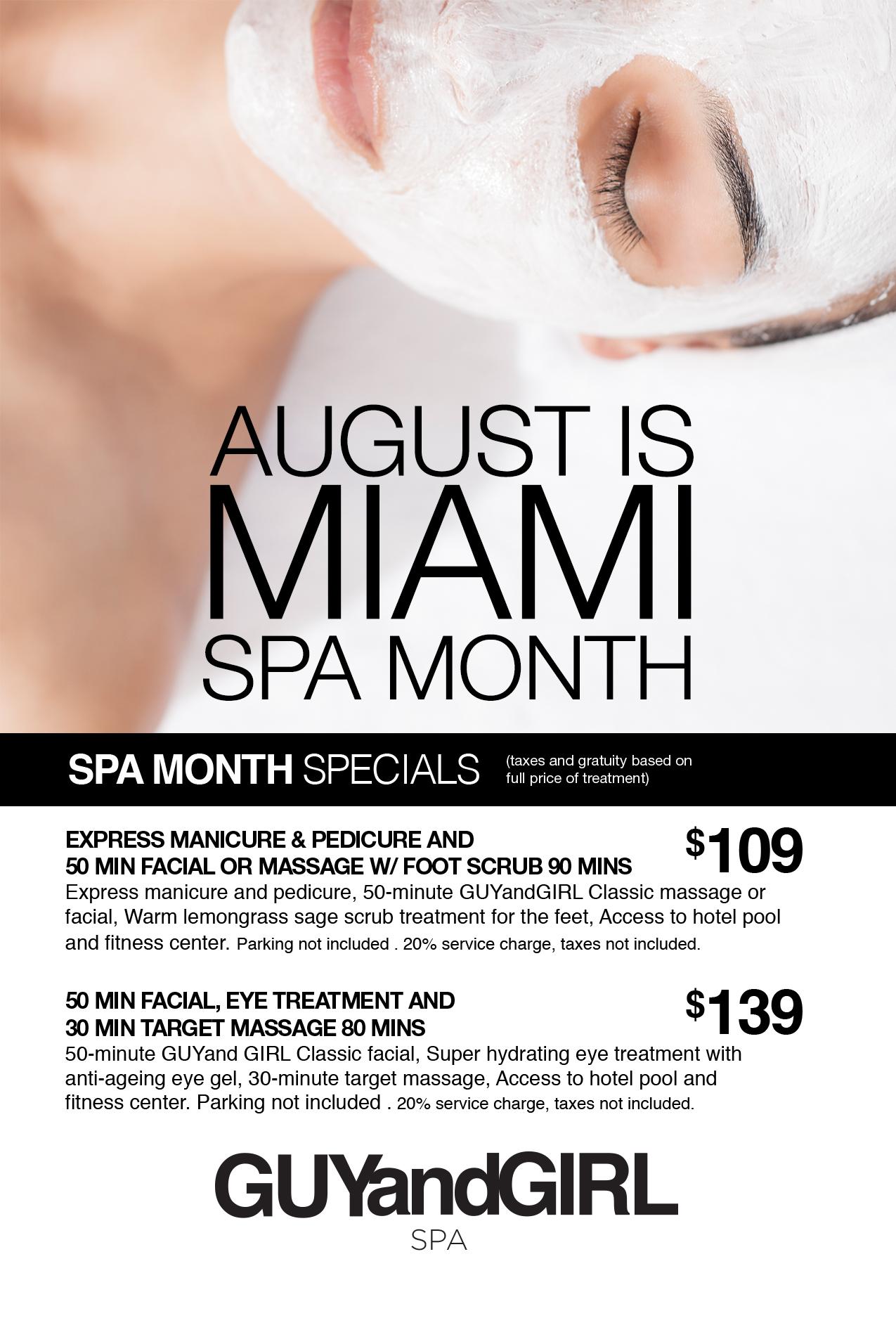 Miami Spa Month Poster