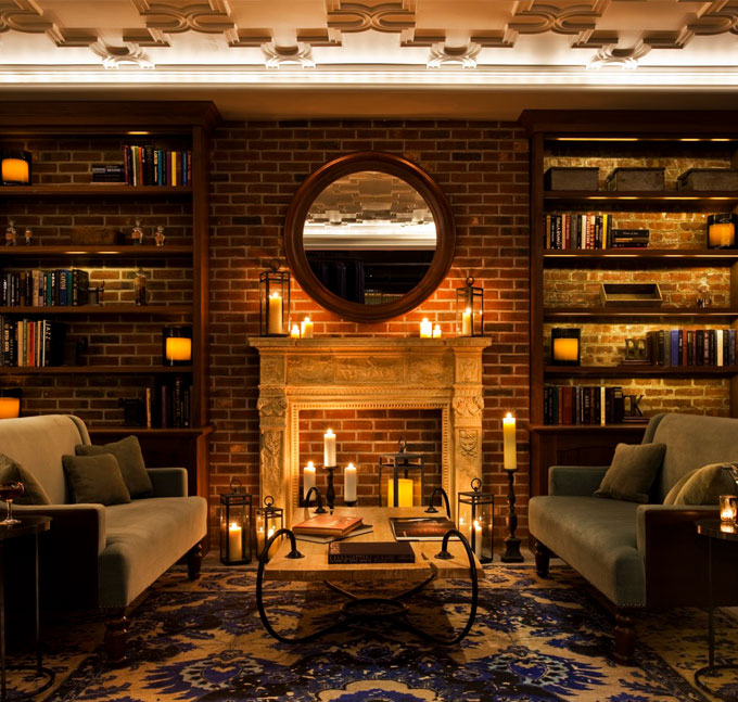 NYLO-NYC-Library-Fireplace