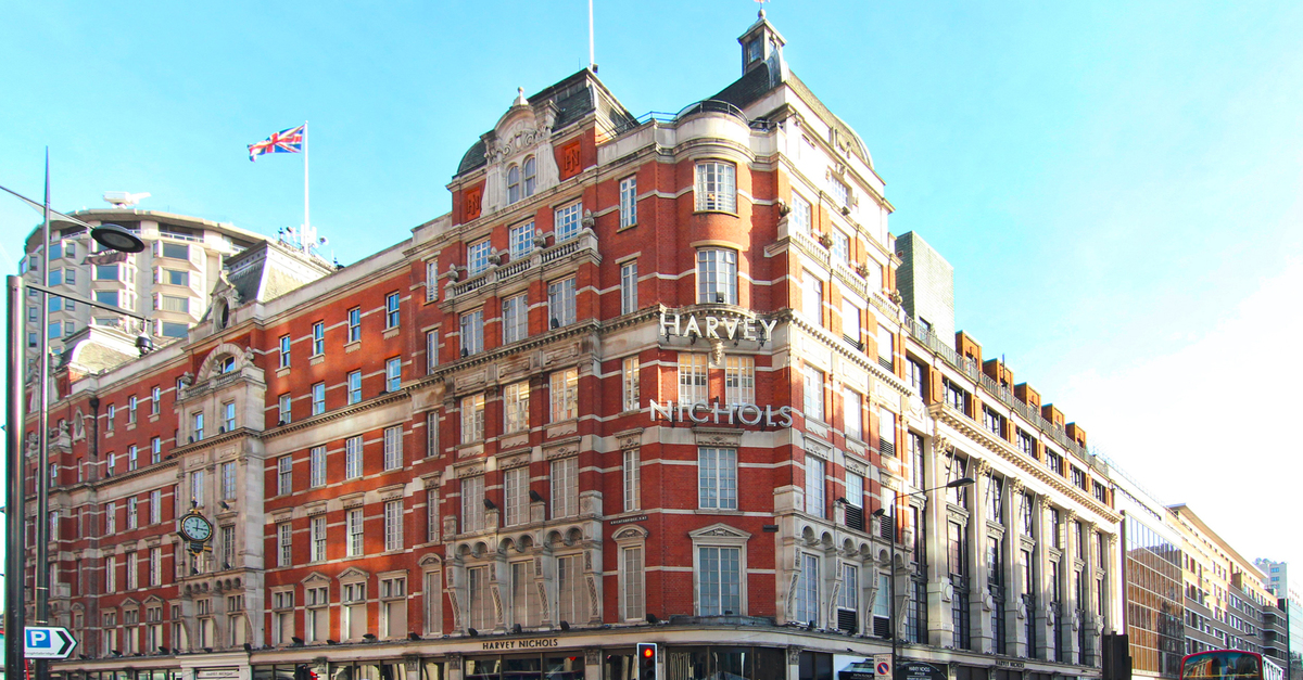 Harvey Nicols famous store at Belgravia Knightsbridge