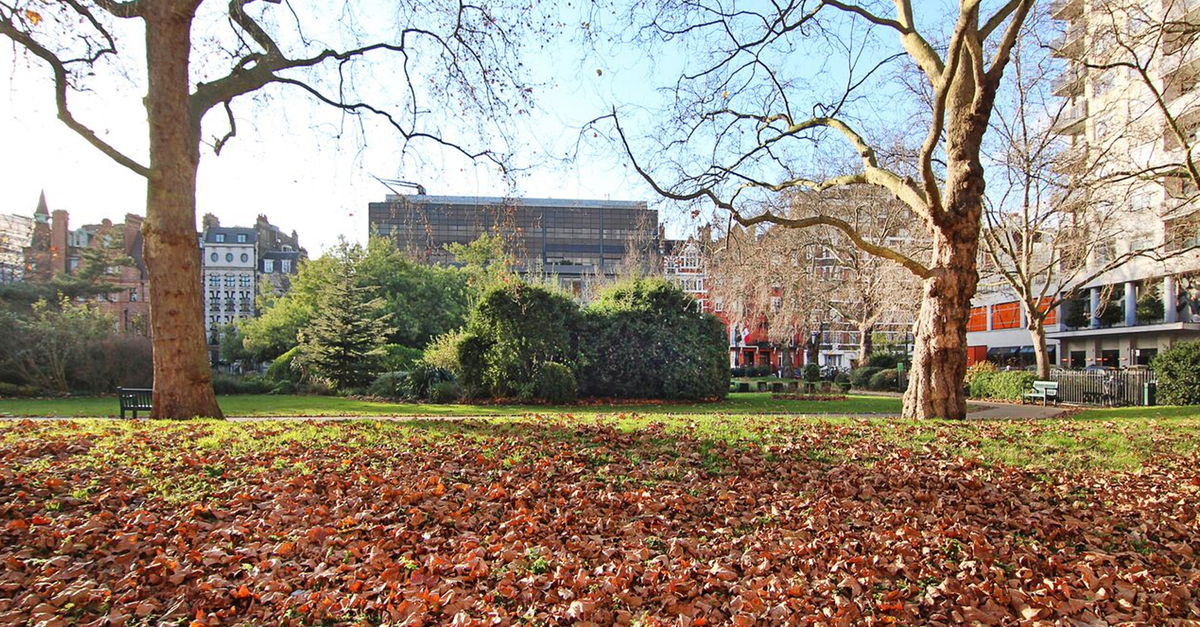 Belgravia Garden Square in Autumn