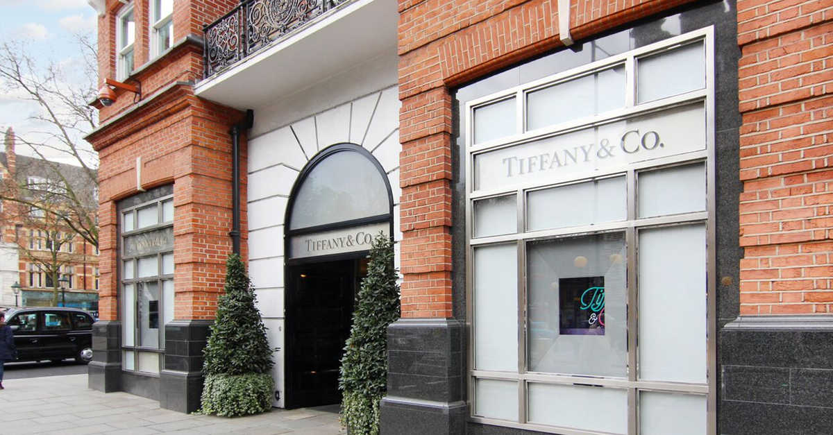 Tiffany & Co - one of many great brands on Sloane Street, Belgravia