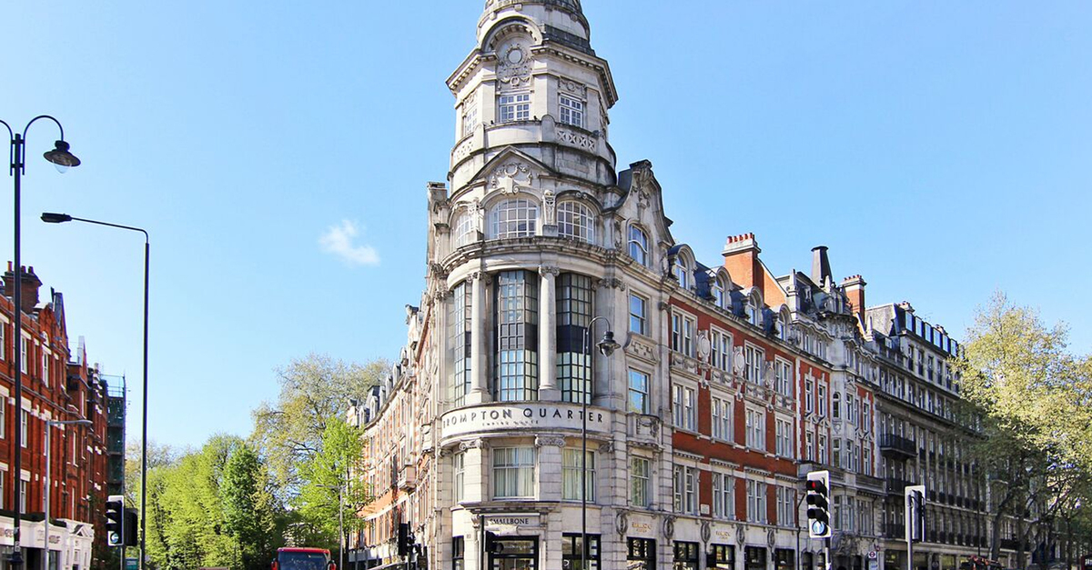 Brompton Quarter iconic building in Knightsbridge