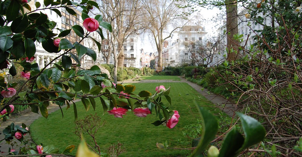 One of Knightsbridge's elegant garden squares