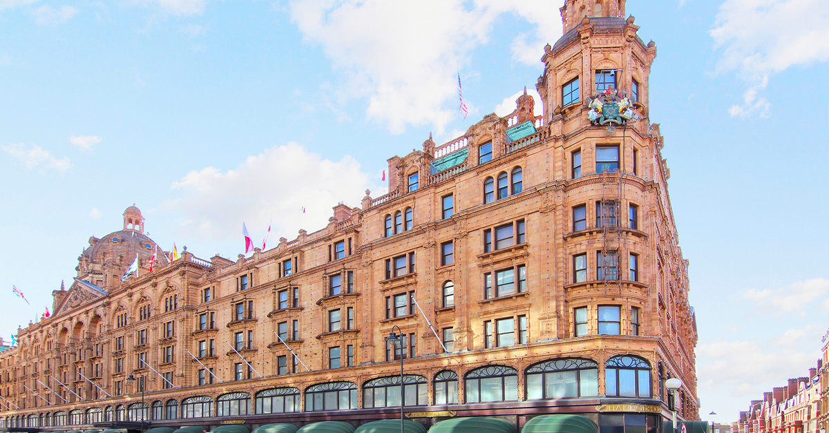 Harrod's world famous store Knightsbridge