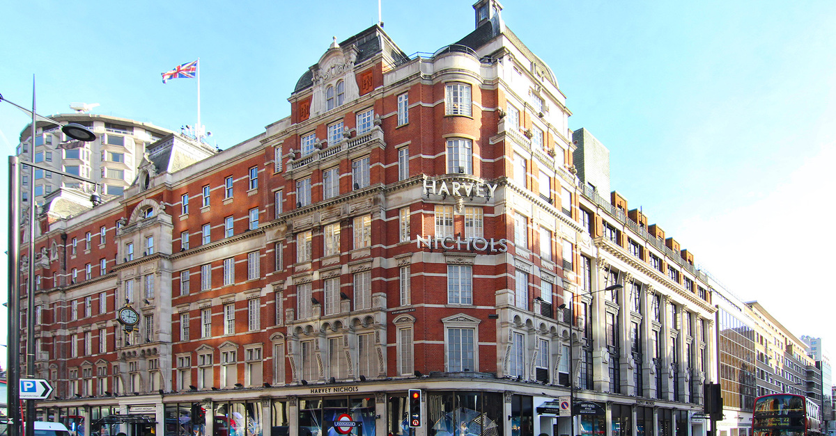Harvey Nicols famous store at Knightsbridge