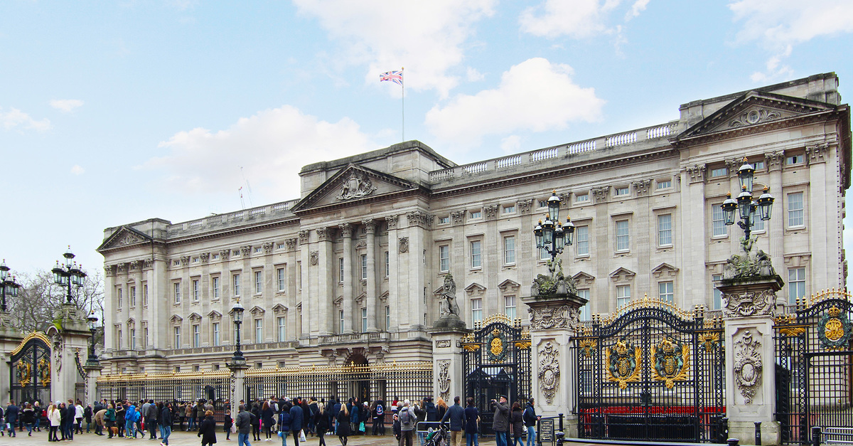 World famous Buckingham Palace