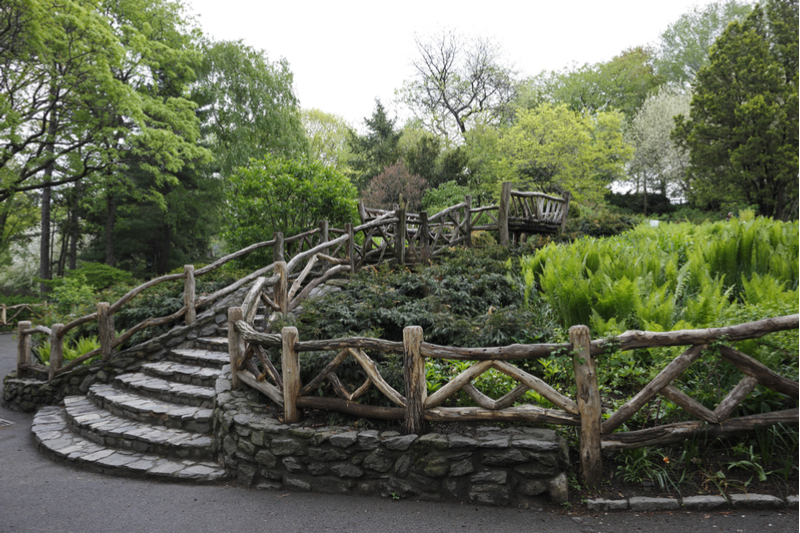 Shakespeare Garden fence and stairway