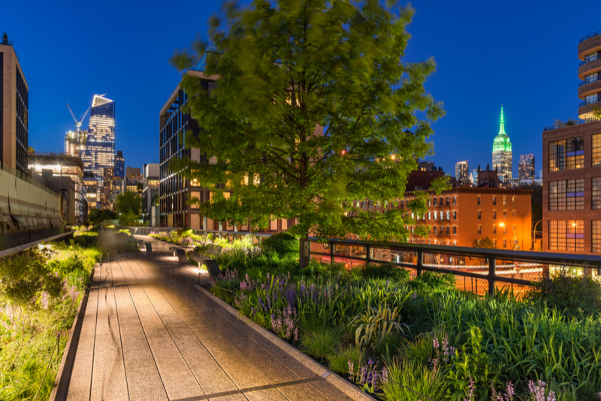 Image of Highline Park at night