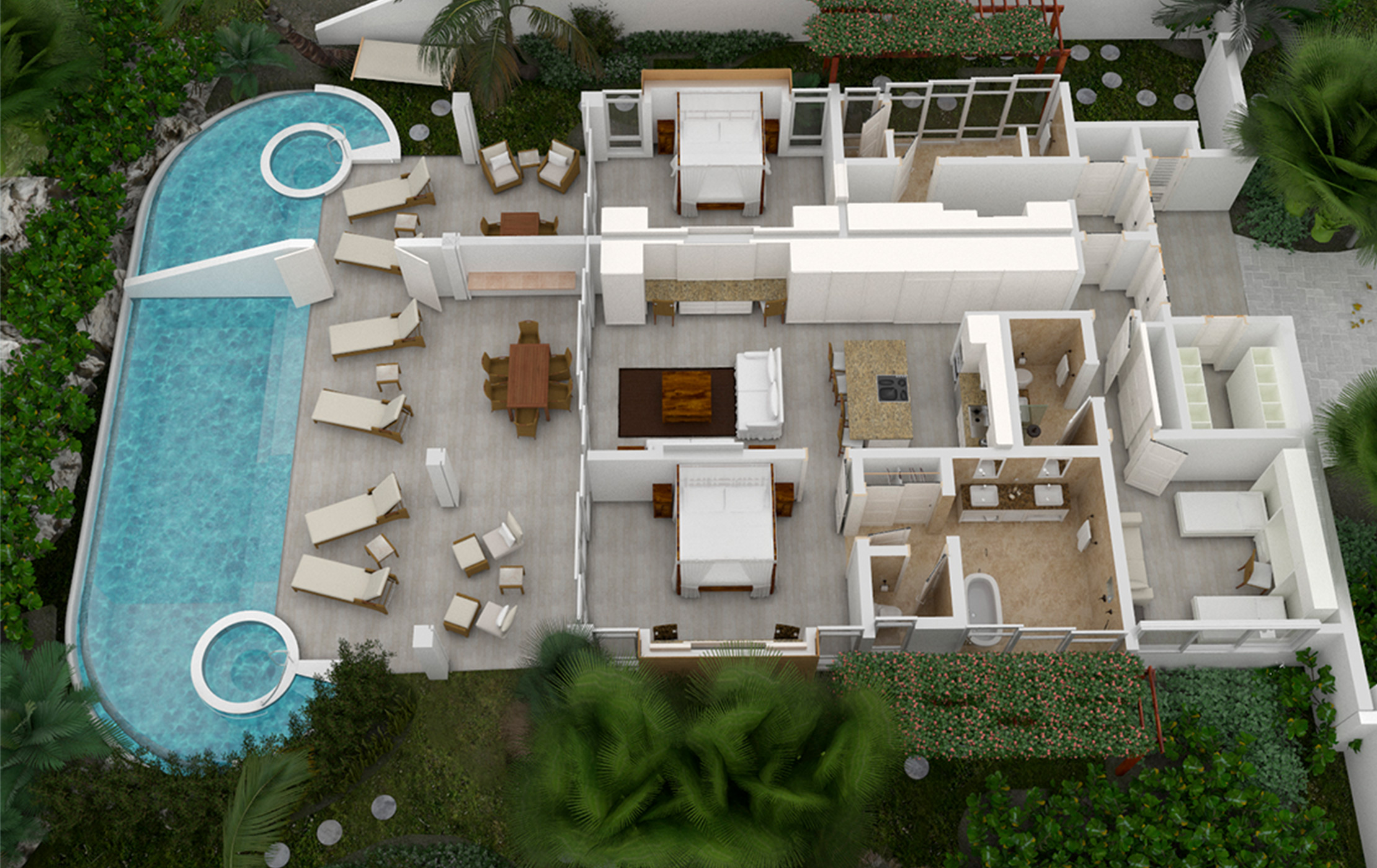 3-Bedroom Villa with Lock-off
