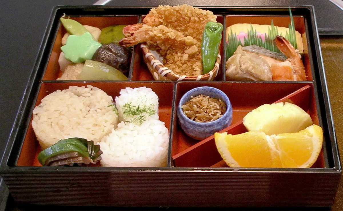 Typical bento from Hanabishi, Koyasan
