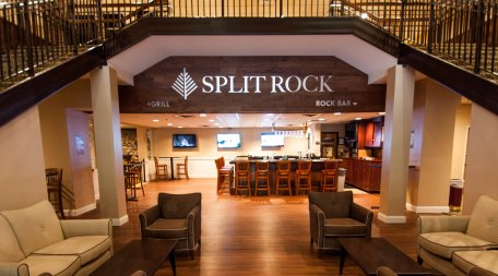 Split Rock Resort's Lobby looking into the Rock Bar
