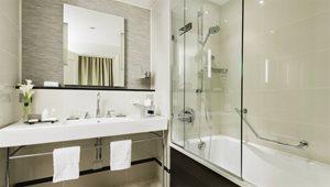 <h5>SUITES<br />Executive Suite Bathroom at St. James' Court, a Taj Hotel</h5>