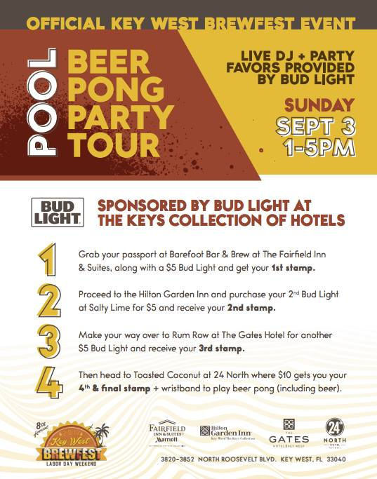 Brewfest Bud Light Beer Pong Party Tour