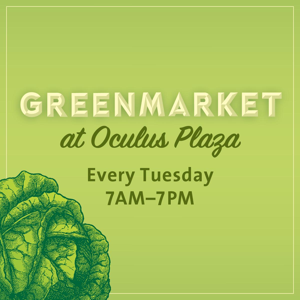 Greenmarket at Oculus Plaza