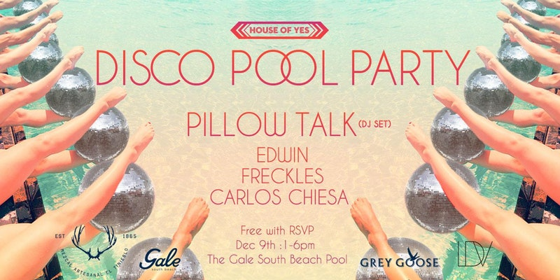 Disco Pool Party with Pillow Talk