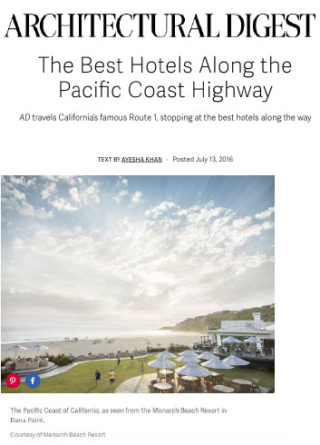 Architectural Digest The Best Hotels Along Pacific Coast Highway